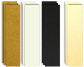 Card Bookmark Blanks, Black, Kraft, White & Ivory. Choose Colour & Quantity
